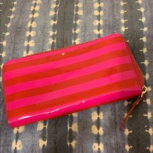 Kate Spade large pink and red wallet